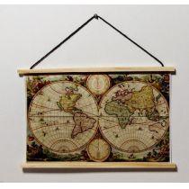 Landkarte Weltkarte Puppenhaus Dekoration Miniaturen 1:12