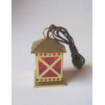 Laterne Metall goldfarben 3,5 V  Puppenhaus, Krippen, Miniaturen