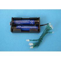 Lichterkette 12 LED Lämpchen 3V Batterie Weihnachten Puppenhaus Deko