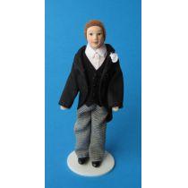 Mann Bräutigam Puppe für die Puppenstube Miniatur 1:12