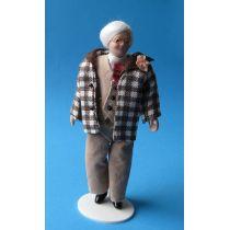 Mann Herr Opa im Anzug Puppe für die Puppenstube Miniatur 1:12
