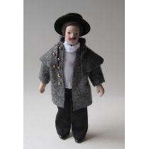 Mann in Winterkleidung Puppe für Puppenhaus Miniaturen 1:12