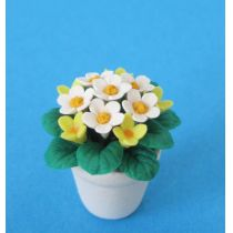 Margariten im Topf gelb Frühlingsblumen Puppenhaus Miniaturen 1:12