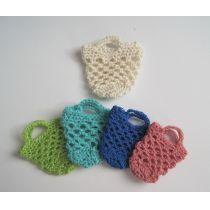 Mini Einkaufsnetz Tasche gehäkelt Puppenhaus Miniaturen Handarbeit