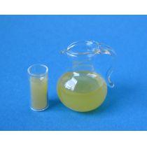 Mini Saftkrug mit Glas  Dekoration Miniaturen 1:12