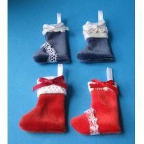 Nikolausstiefel 4-tlg. weihnachtliche Puppenhaus Miniatur 1:12