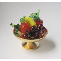 Obstschale mit Früchten Puppenhaus Dekorationen Miniaturen 1:12