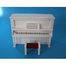 Piano Klavier mit Hocker Puppenhausmöbel Miniaturen 1:12