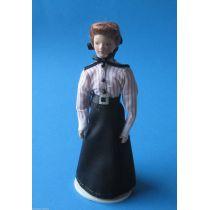 Puppe Lehrerin Dame Frau für Puppenhaus Miniaturen 1:12