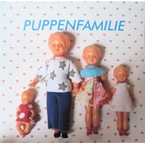 Puppenfamilie  4 Figuren Mutter Vater Kind Baby modern Miniaturen 1:12 Schwenk