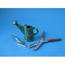 Puppenhaus Giesskanne Heckenschere Spachtel Garten  Miniatur 1:12