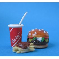 Puppenhaus Mini Burger Set Dekoration Miniaturen 1:12