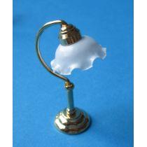 Puppenhaus Tischlampe weisser Schirm Dekoration Miniatur 1:12