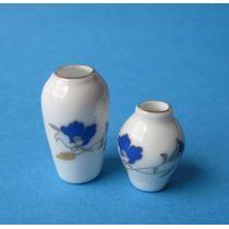 Puppenhaus Vasen Set Porzellan Miniatur 1:12