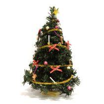 Puppenhaus Weihnachtsbaum Tannenbaum geschmueckt Miniaturen 1:12
