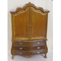 Schrank Cabinet braun 2 Türen  Puppenhausmöbel Miniaturen 1:12