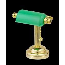 Schreibtischlampe LED gruen  Puppenhaus Beleuchtung Miniatur 1:12