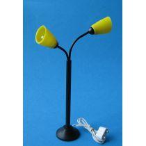 Stehlampe gelbe Schirme Puppenhaus Beleuchtung Miniatur 1:12