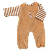 Strampelanzug hellbraun beige Puppenkleidung für 20 - 22 cm Puppen Schwenk