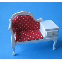 Telefonbank weiss  Puppenhaus Möbel Miniaturen 1:12