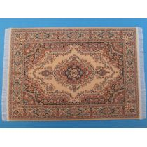 Teppich beige 23,5 x 15,5 cm Miniaturen 1:12