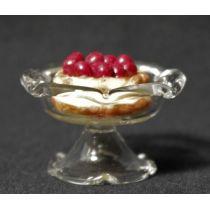 Tortenplatte mit Obstkuchen Puppenhaus Deko Miniatur 1:12