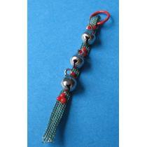 Türband mit Glocken Advent Puppenhaus Miniatur 1:12