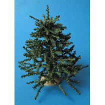 Weihnachtsbaum gross mit Ständer 16 cm Puppenhaus Miniatur 1:12