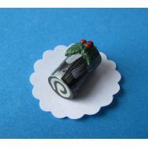 Weihnachtskuchen Sahnerolle  Puppenhaus Dekoration Miniatur 1:12