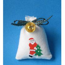 Weihnachtsmann Sack mit Glocke Puppenhaus Miniatur 1:12