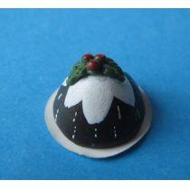 Weihnachtspudding  Puppenhaus Dekoration Miniatur 1:12
