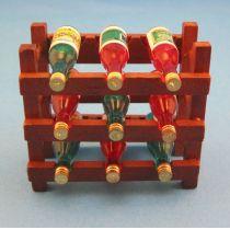 Weinregal inkl. 9 Flaschen Puppenhaus Möbel Miniatur 1:12