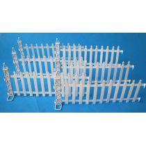 Zaun Metall weiß 6 tlg. für Puppenhaus Garten Miniatur 1:12
