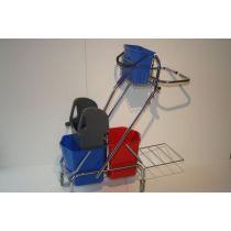 CleanSV®Reingungswagen Dofa 20 plus Abfallsackhalter mit 4 Liter Eimer
