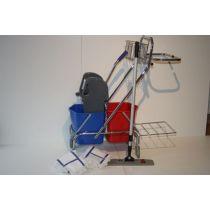 CLEANSV®REINGUNGSWAGEN Dofa 20 plus mit Mop Set Magic click 50 cm + 3 Baumwollmop