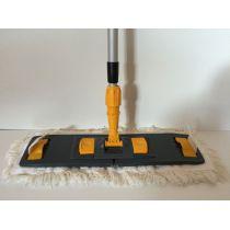 CleanSV Lamo Laschenmopset 50 cm, 1 Laschenmop Baumwollmop 50 cm Laschen + Taschen, 1 Lamo Mphalter, 1 Telesko