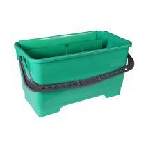 Fenster Putzer Eimer 20 Liter grün, mit 4 Rädern