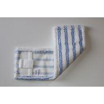 Laschenmikrofasermop 50 cm blau / weiß mit Lasche und Tasche