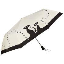 Automatik Taschenschirm Schwarze Katzen Regenschirm von Lilienfeld