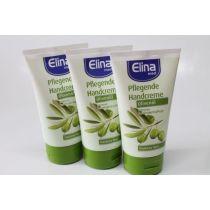 Elina med Handcreme Olivenöl 3 x 150 ml trockene,rissige Haut Urea