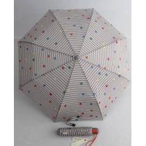 Esprit gestreifter Automatik Regenschirm mit Punkten grau Damen