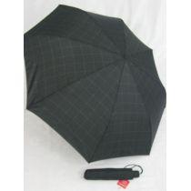 Esprit karierter Regenschirm Herren schwarz grau tecmatic