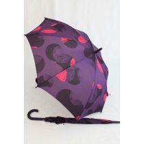 Esprit Regenschirm Stockschirm lila Dots