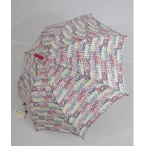 Esprit Stockschirm Regenschirm Damen weiß Letter Dance white
