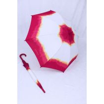 Esprit Stockschirm Regenschirm weiß rot