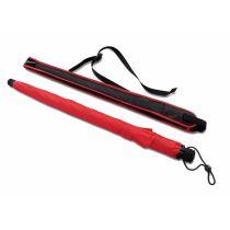 EUROSCHIRM Swing liteflex roter Regenschirm für Damen und Herren Trekking