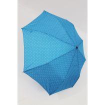 Happy Rain Automatik Regenschirm Dots blau gepunktet 46851 Taschenschirm