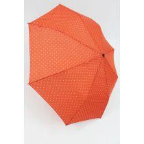 Happy Rain Automatik Regenschirm Dots orange gepunktet 46851 Taschenschirm