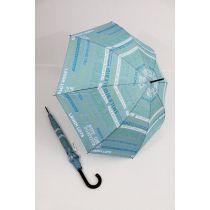 Happy Rain bunter Stockschirm Regenschirm Script hellblau