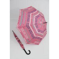 Happy Rain bunter Stockschirm Regenschirm Script rosa